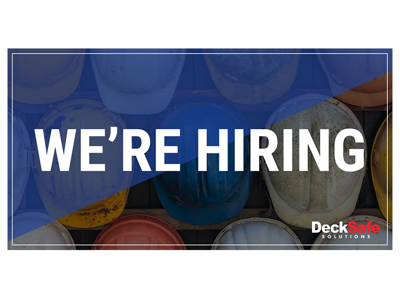 DECKSAFE ARE HIRING | FABRICATORS & INSTALLERS