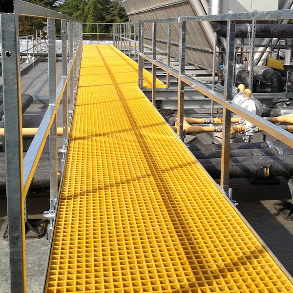 Image yellow grp open mesh grating