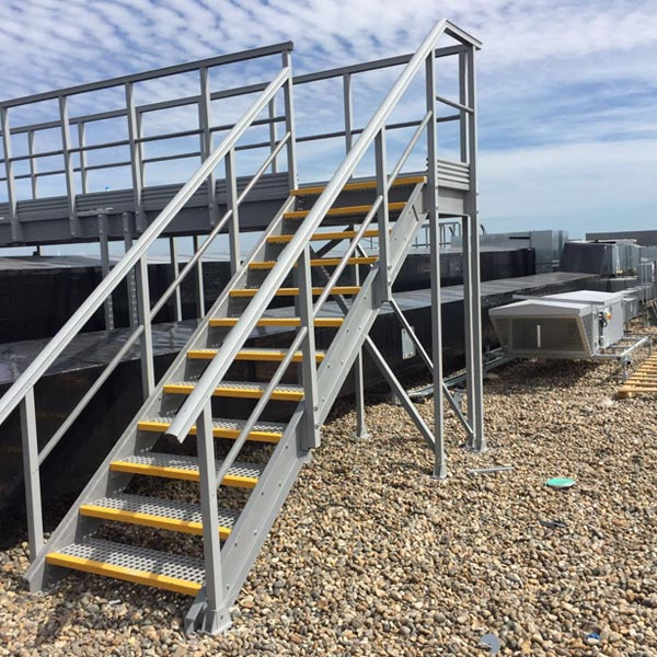 Image fibreglass stairs access platforms